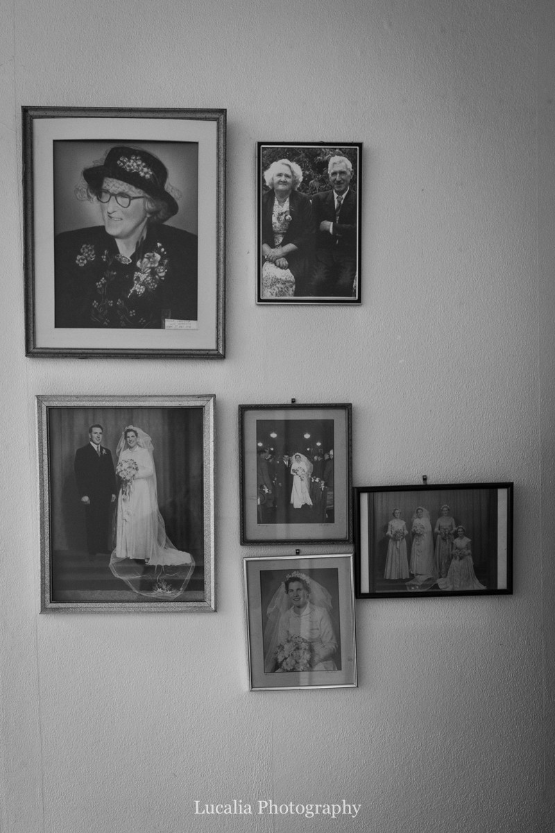 family wedding photos on the wall, Wairarapa wedding photographers