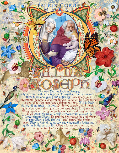 """Patris Corde MMXXI """"With a Father's Heart"""" Prayer to St. Joseph ©2021"""