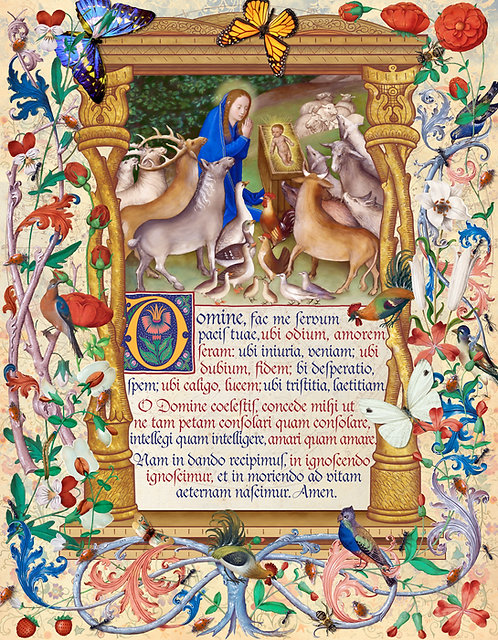 Peace Prayer of Saint Francis In Latin ©2019