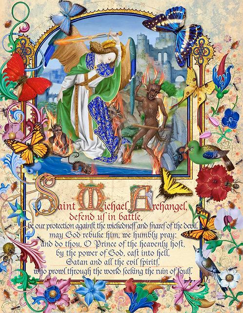 Prayer to Saint Michael the Archangel in English ©2017