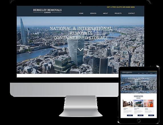 Website Design Berkeley Removals London.