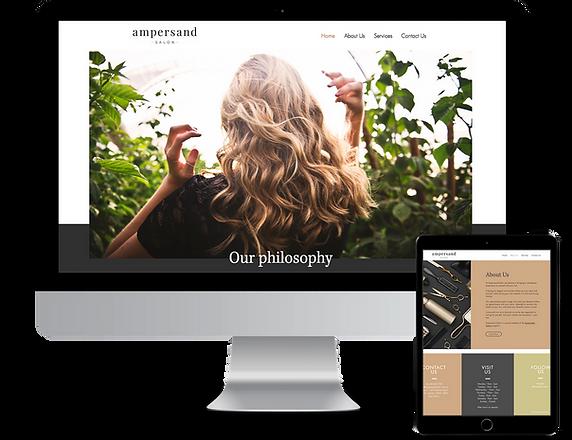 Website design ampersand salon