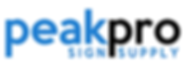 peakpro sign supply