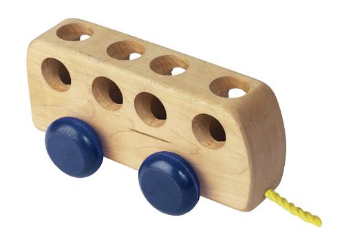 Wooden Bus Blue