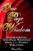One Page Wisdom book, co-author Linda Van Haver