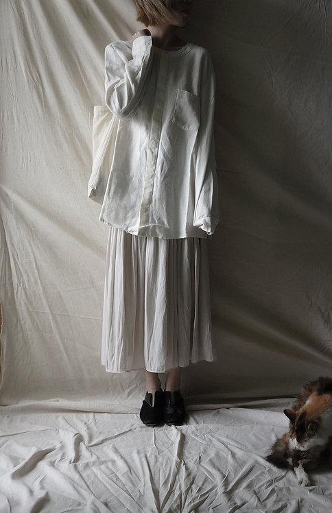 linen short shirt White
