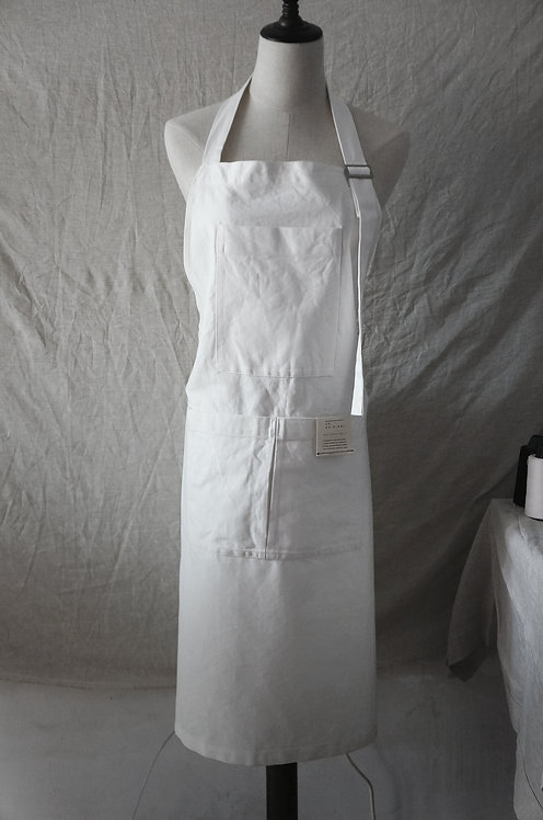 #302 classic work apron WHITE