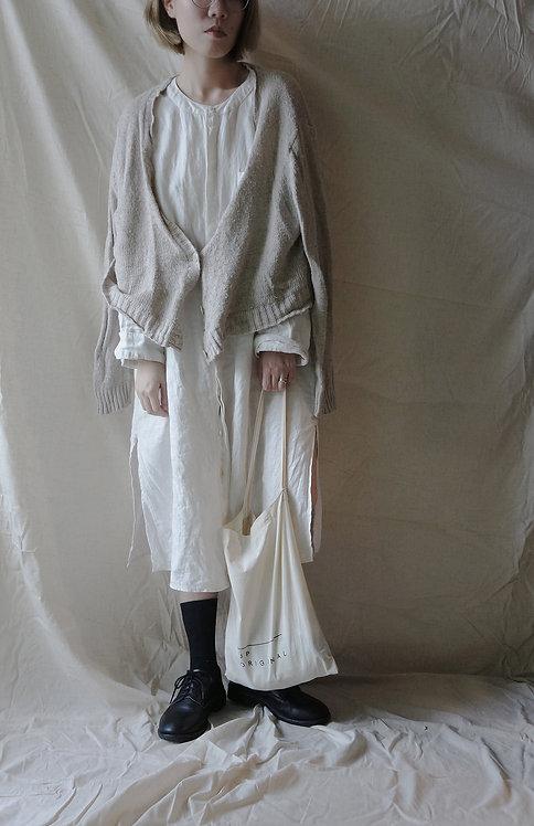 linen long shirt White