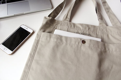 two-way tote bag Khaki