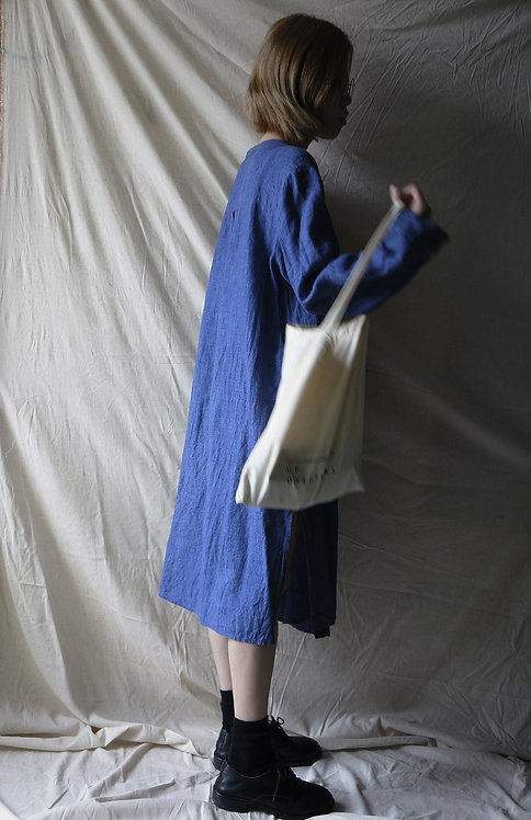 linen long shirt Denim