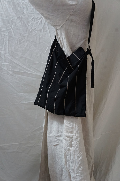 #308 tote bag -stripe&black