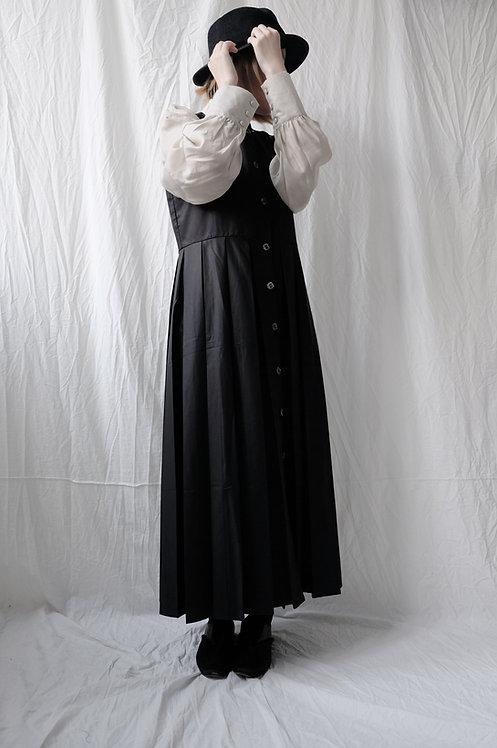 pleated jumper dress