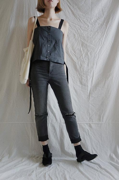 grey strip camisole