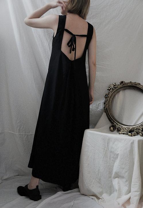 square collar sleeveless dress