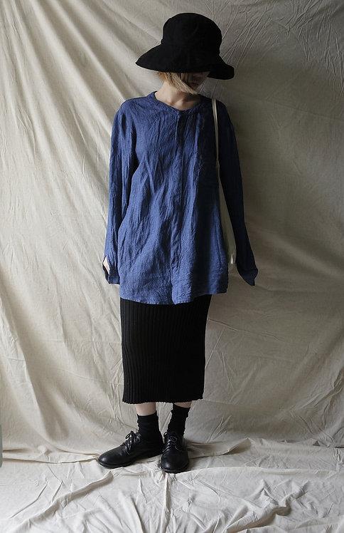 linen short shirt Denim