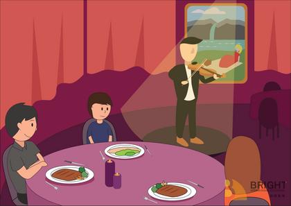 Brighter Illustration Dinner Music