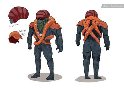 Golem + Octopus concept