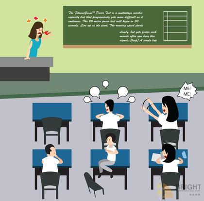 Brighter Illustration Classroom Chaos