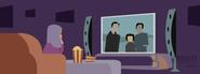 Brighter Illustration Watching TV