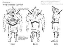 Monster design for wrestling game