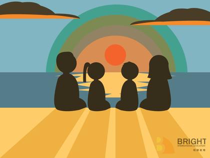 Brighter Illustration Sunset