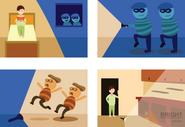 Brighter Illustration Thieves Comic