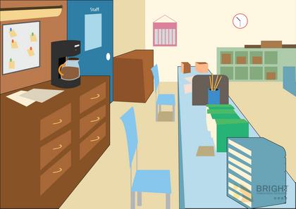Brighter Illustration Teacher's room