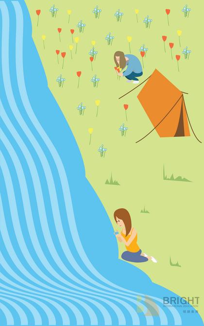 Brighter Illustration Camping