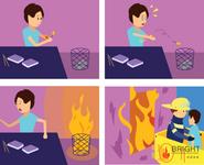 Brighter Illustration Fire Comics