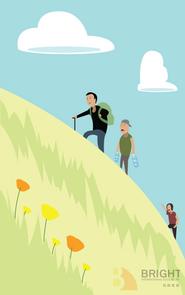 Brighter Illustration Hiking