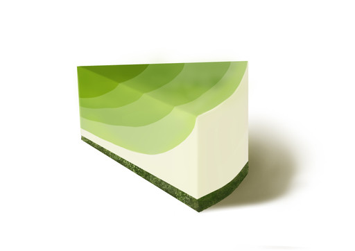 Greentea cheesecake