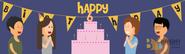 Brighter Illustration Birthday Party