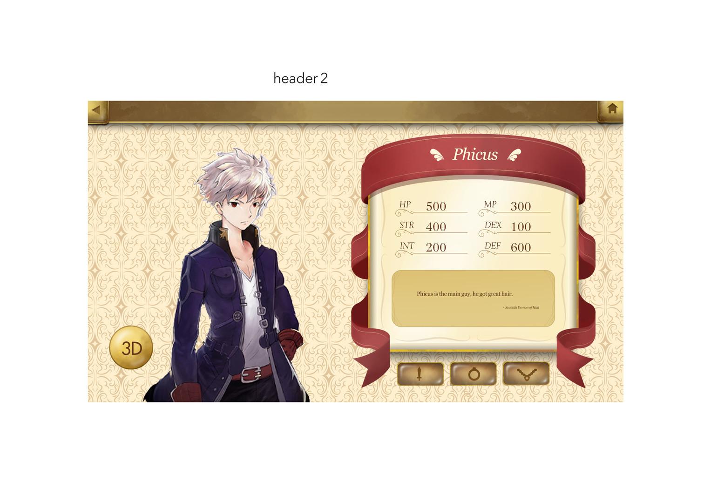DevilStone UI Background Design