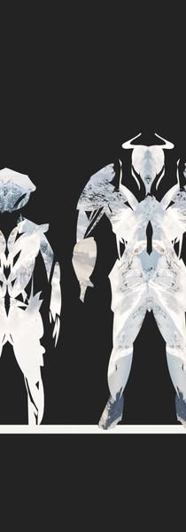Sci-fi armor silhouette