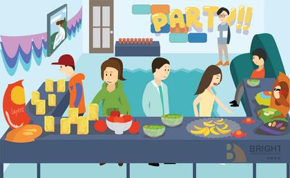 Brighter Illustration Party