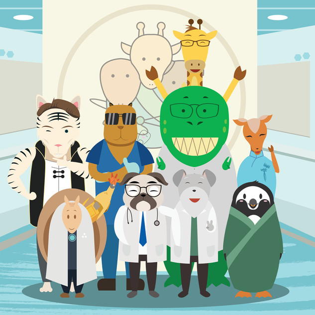 Group Photo for Dr. Friend