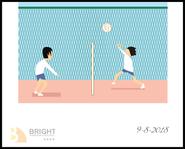 Brighter Illustration Volleyball