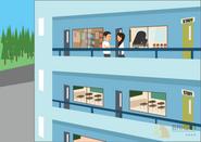 Brighter Illustration School Corridor