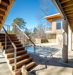 Haw River House Pool Terrace
