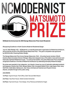 MATSUMOTO PRIZE 2020