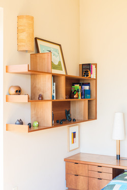 Custom bookcase + Sidetable