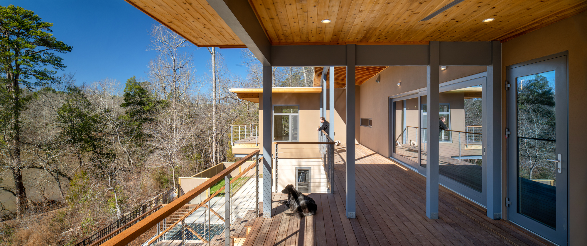 Haw River House Deep Sheltering Porches