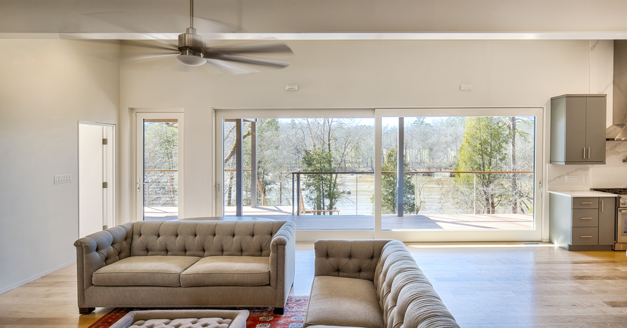 Haw River House Living Room