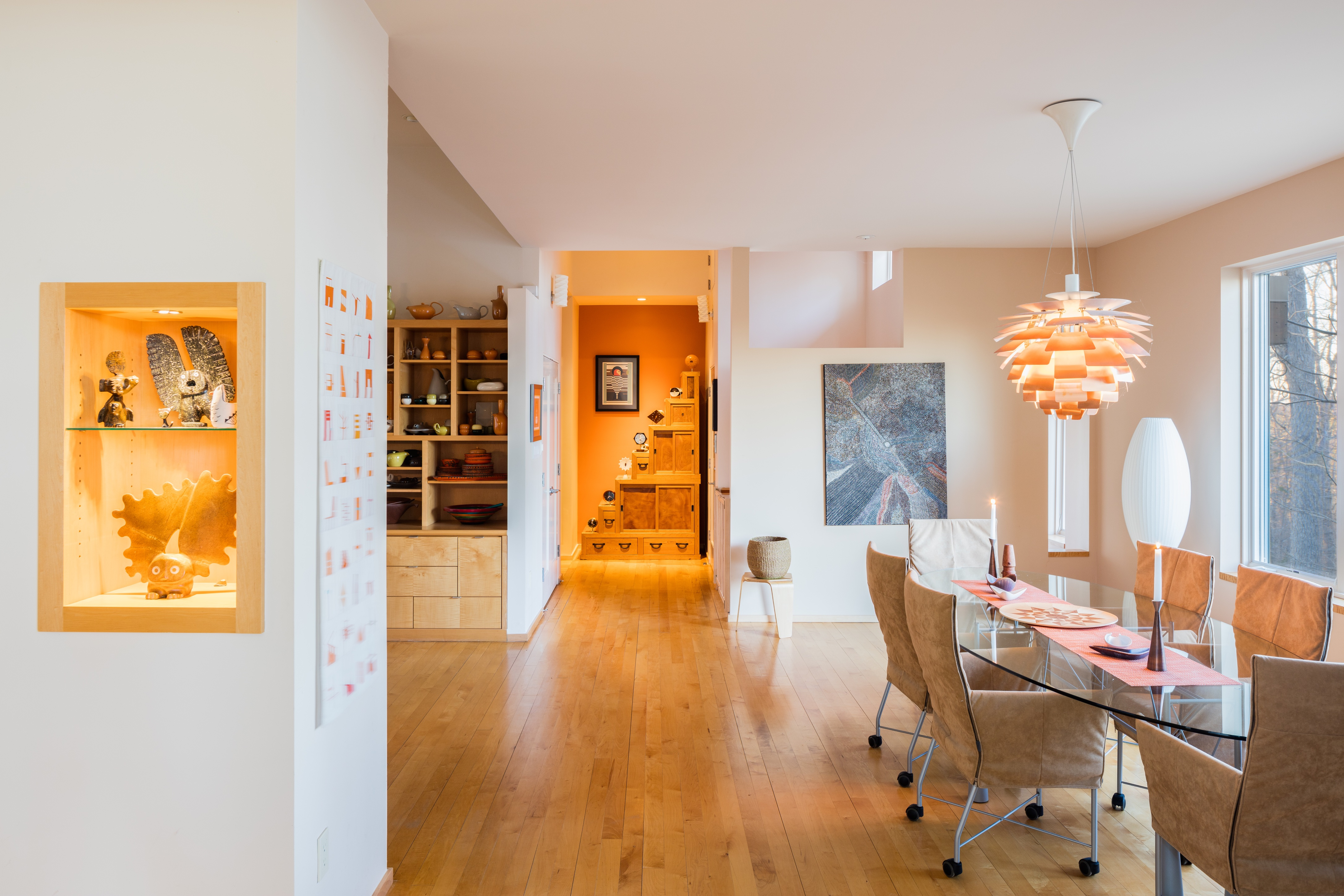 Interiors through view