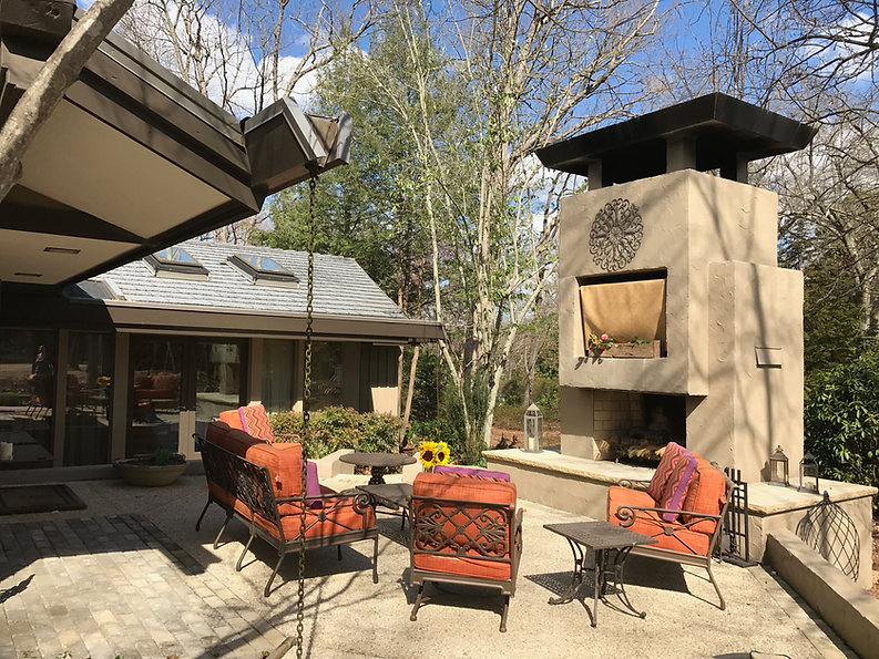 """The newly created """"courtyard"""" is for entertaining all year long."""