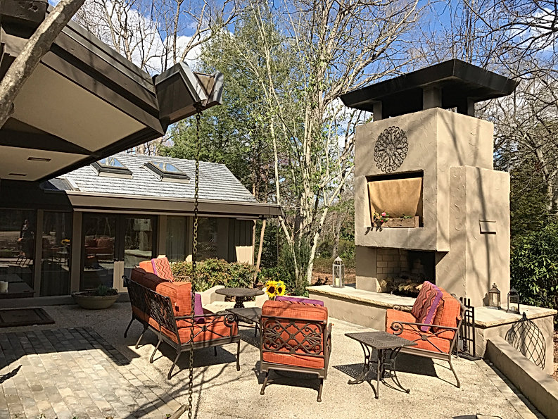 "The newly created ""courtyard"" is for entertaining all year long."