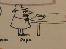 """A cartoon that I did of my Dad many years ago.  I think it describes him to a """"T""""."""