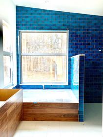 Blue Master Bath