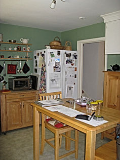 Before: the old kitchen.