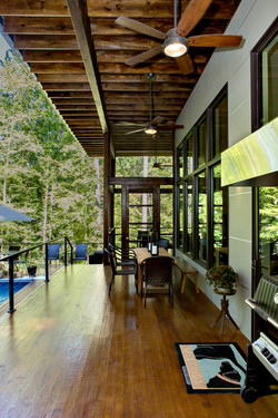 Shaded Outdoor Porch